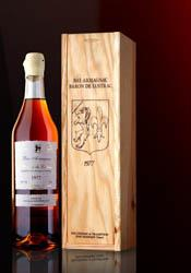 Armagnac in a gift woodbox