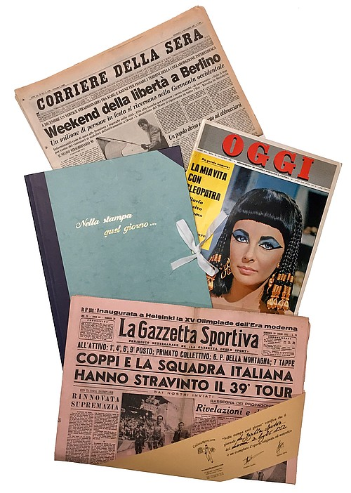 Giornale autentico in custodia retro
