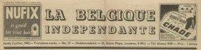 La Belgique indépendante