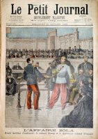 L'affaire Zola. Grave incident d'audience : le Colonel Henry et le Lieutenant-Colonel Picquart.